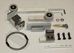 Механизм для 2-х стеклянных телескопических дверей set1
