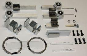 Механизм для 3-х стеклянных телескопических дверей set2