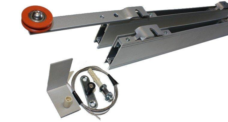 Установка комплекта фурнитуры для телескопических дверей UNI.