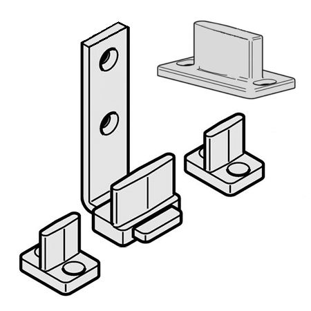 Фурнитура для 2-4-x каскадных дверей set44